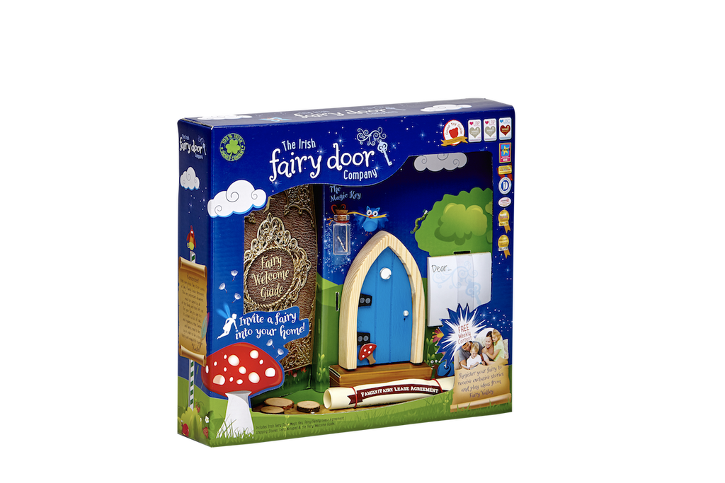 Fairy Door Blue Arched