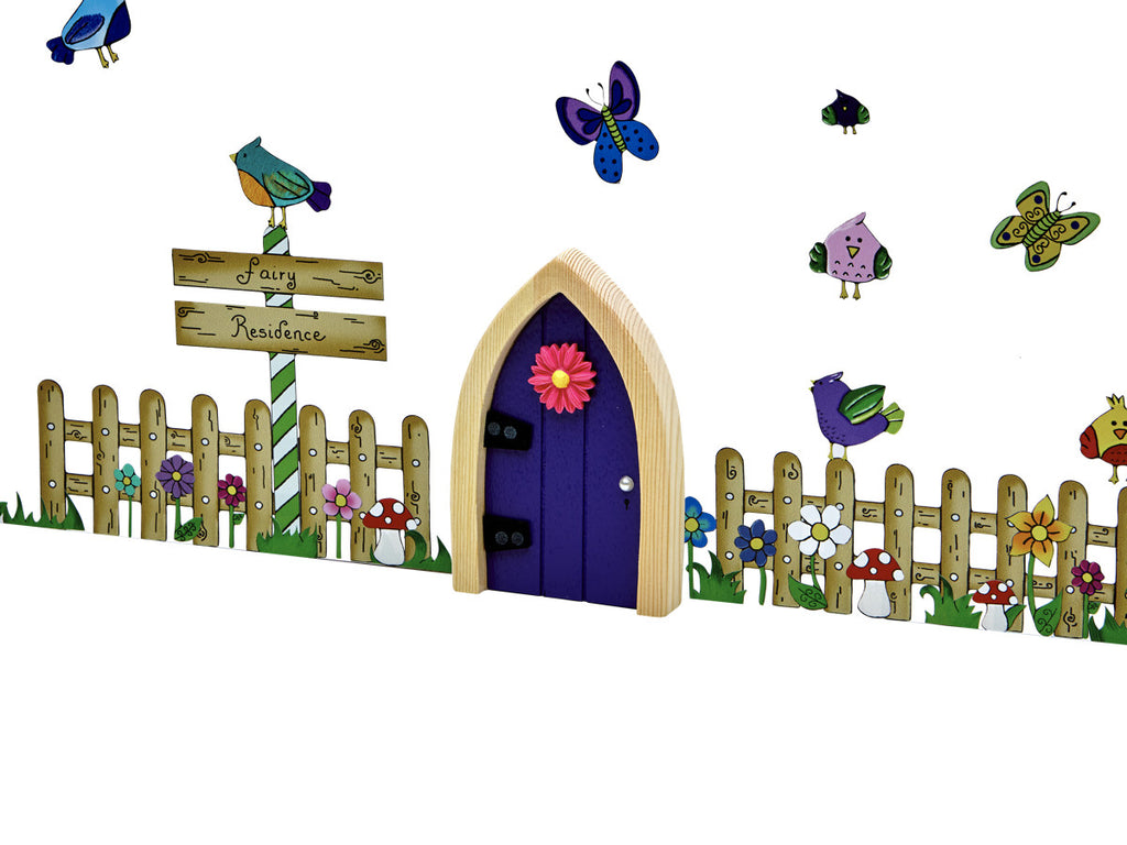 Irish Fairy Picket Fence Wall Art Pack