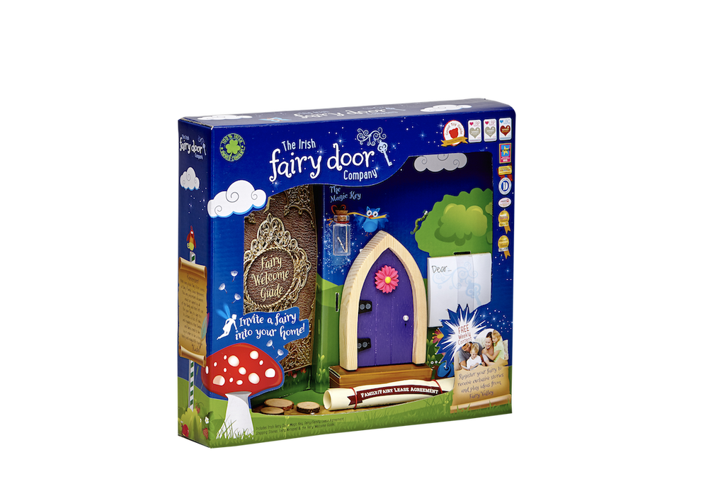 Irish Fairy Door Purple Arched