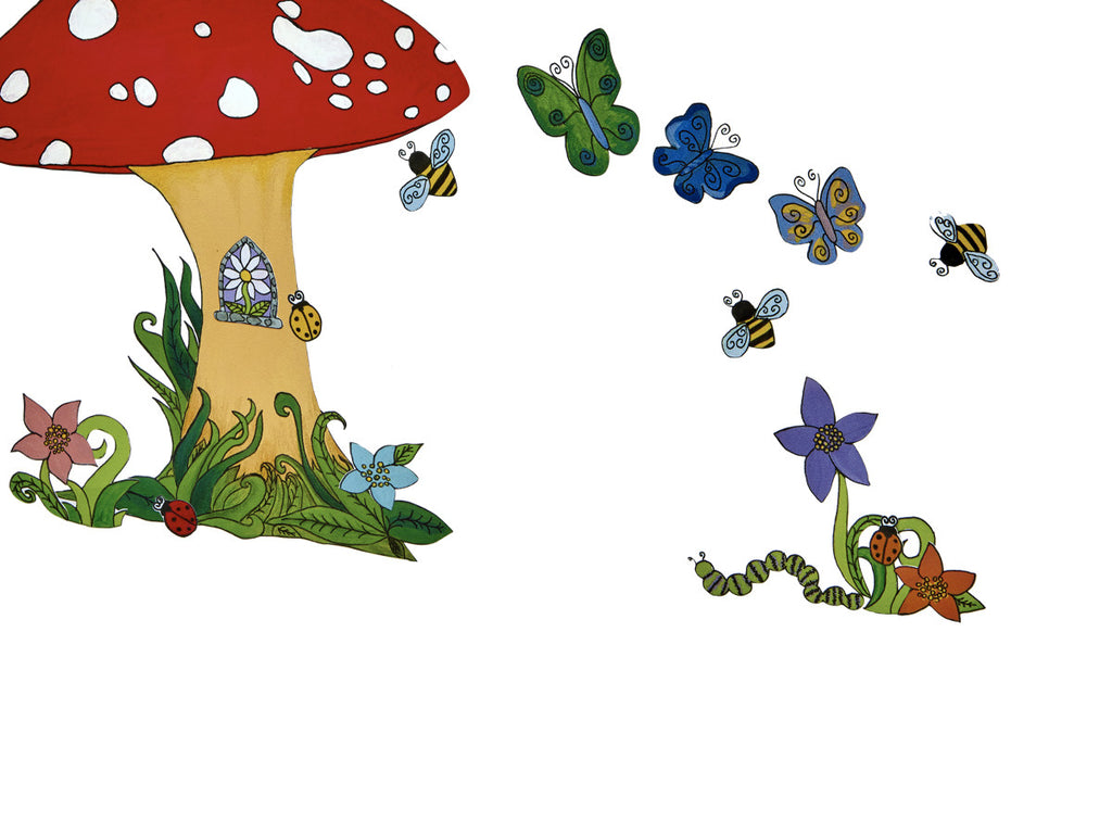 Irish Fairy Toadstool Wall Art Pack