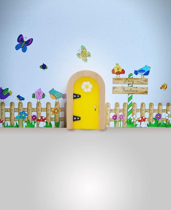 Irish Fairy Door Yellow Round