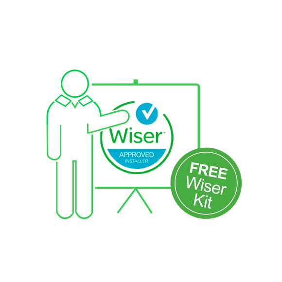 1-2-1 dedicated Wiser training package with FREE Wiser Multi-zone Kit