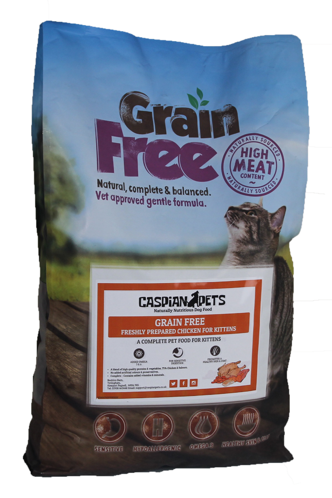 7.5kg Grain Free Kitten Food Freshly Prepared Chicken - CaspianPets