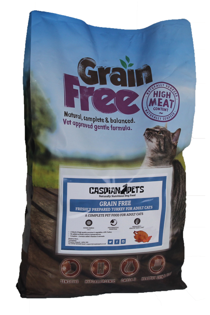 7.5kg Grain Free Freshly Prepared Turkey Cat Food - CaspianPets