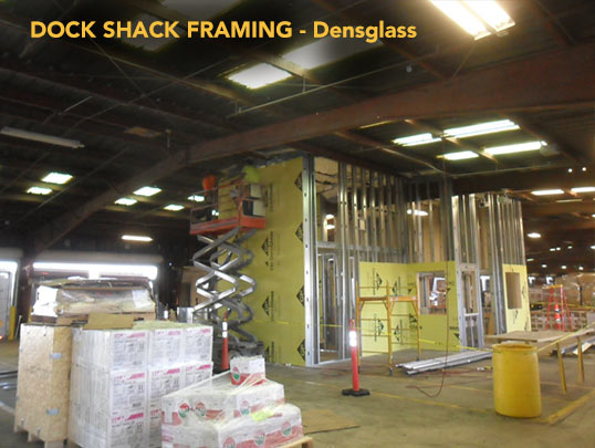 Dock Shack Framing - Densglass