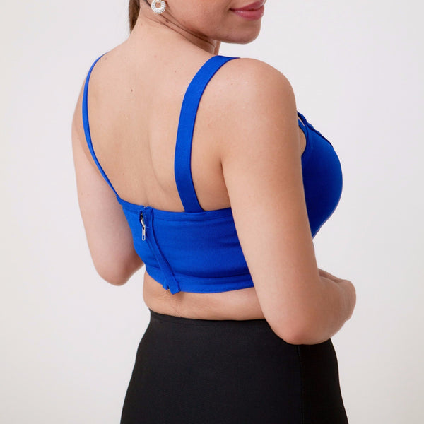 Camila Blue Crop Top