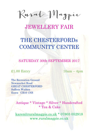 Rural Magpie Jewellery Fair Gt Chesterford Essex