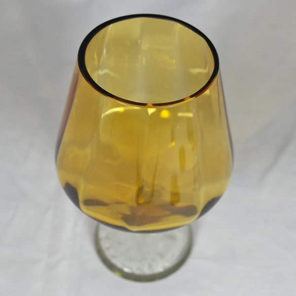 Amber Art Glass Vase