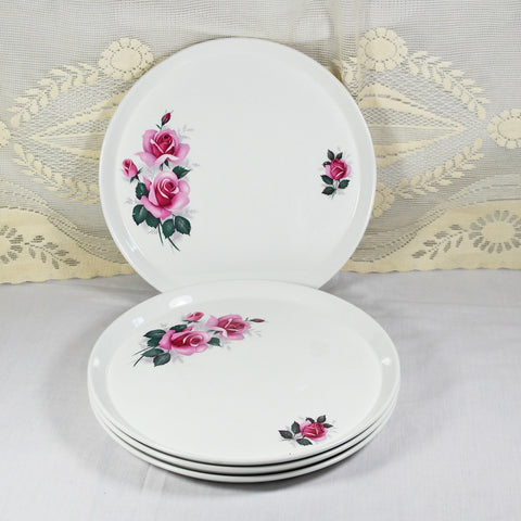 Rose Print Dining Plates
