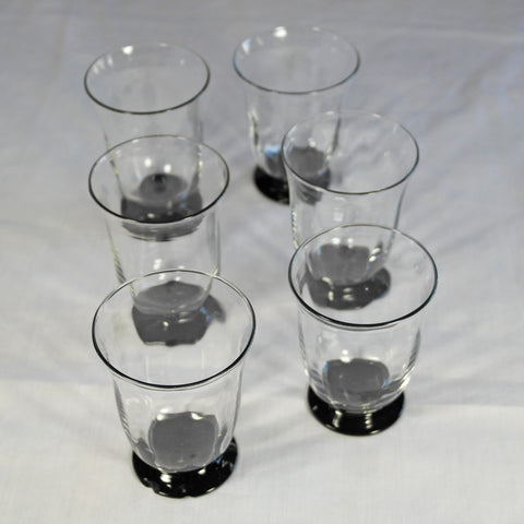 Art Deco Black Base Glasses