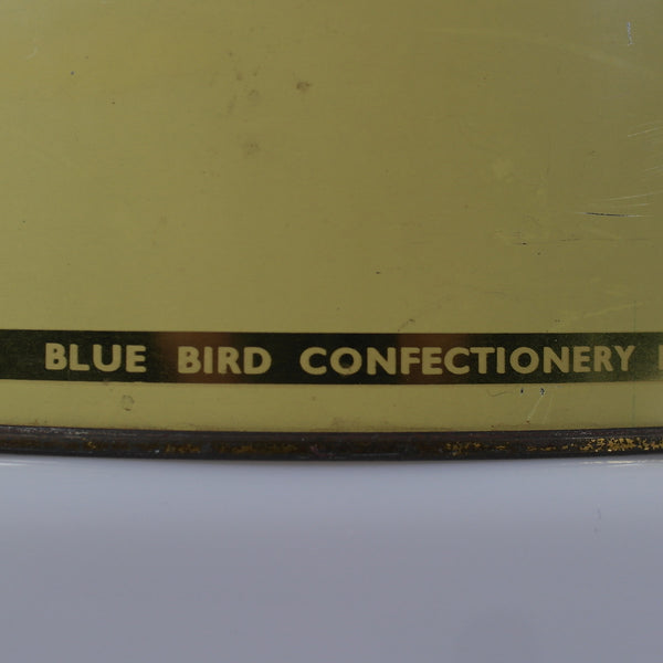 Large Vintage Blue Bird Confectionary Tin