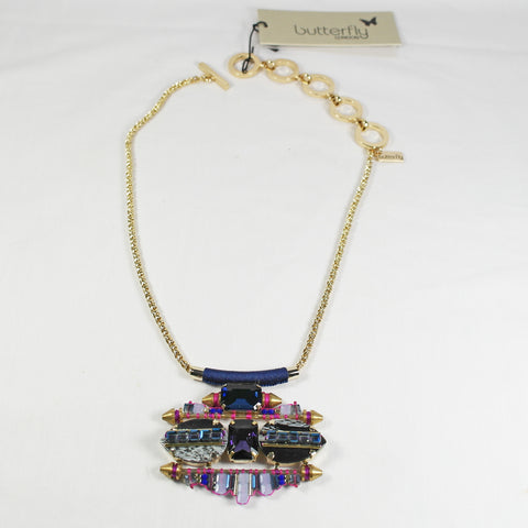 Blue & Amethyst Statement Necklace