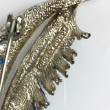 Vintage Blue Feather Hollywood brooch