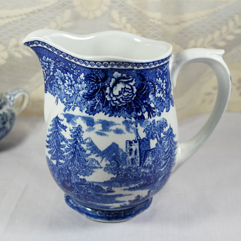 Reinhard Richter Blue & White Jug