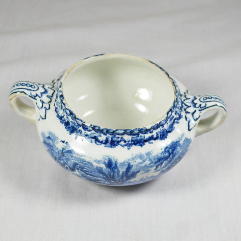 Blue British Scenery Sugar Bowl