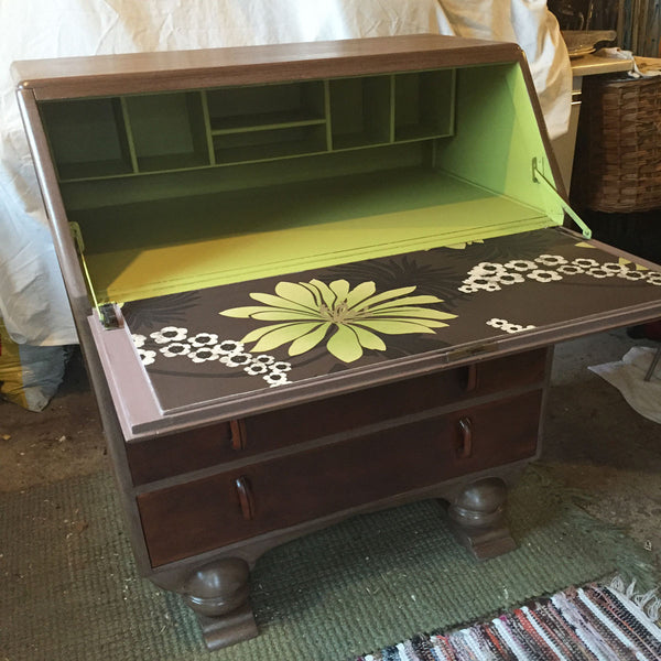 Hand Painted Jentique Writing Bureau