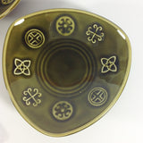 Lord Nelson Green Celtic Butter Dishes