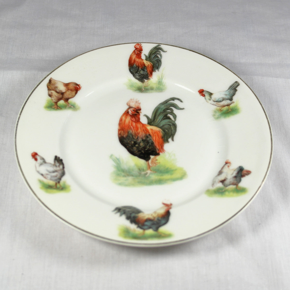 Antique C T Altwasser Rooster Side Plate