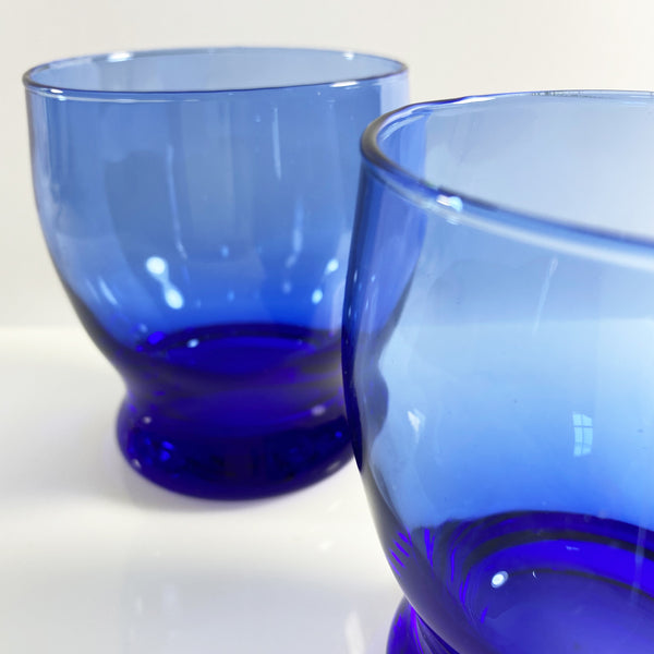 Cobalt Blue Twin Glass Tumblers