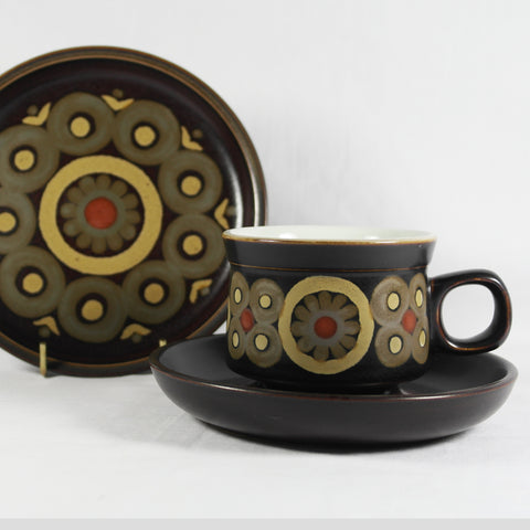 Denby Arabesque Cup and Saucer Trio
