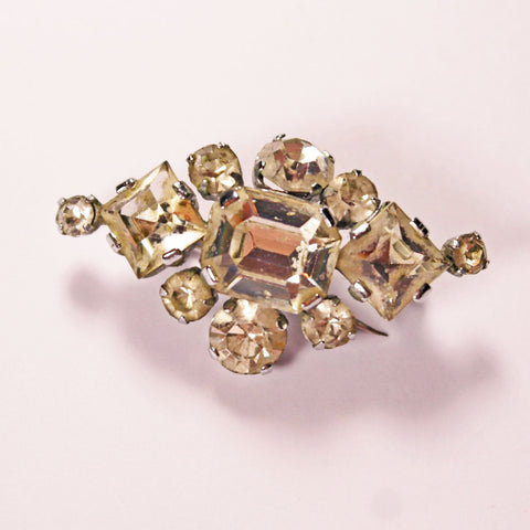 Diamond Diamante Brooch