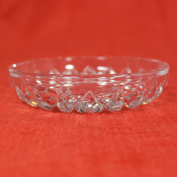 Cut Crystal Clear Glass Trinket Dish