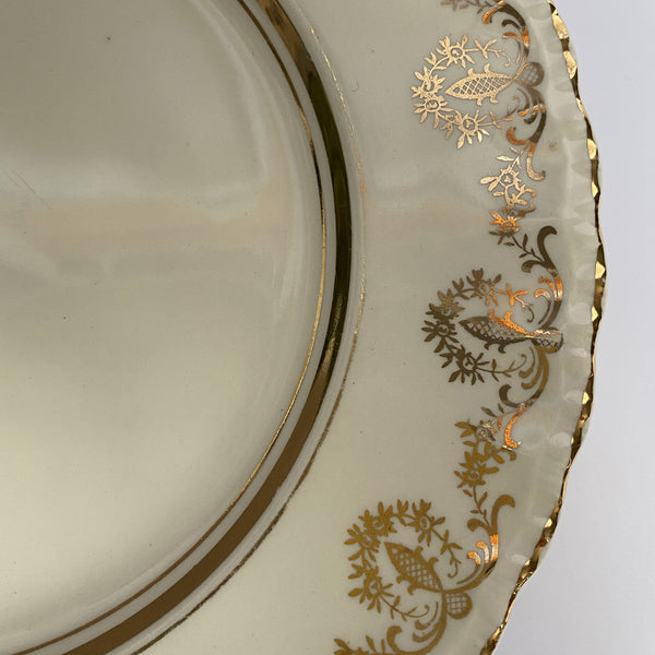 Six Grindley Cream Petal Plates