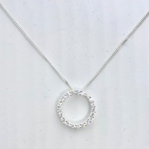 Circle of Life CZ Pendant