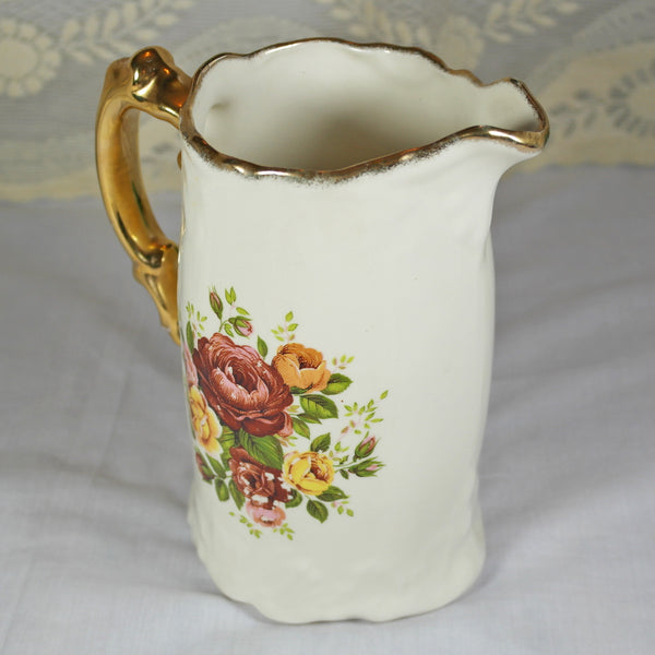Large Ceramic Rose Print Jug Vase