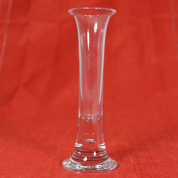 Small Slim Clear Glass Stem Vase