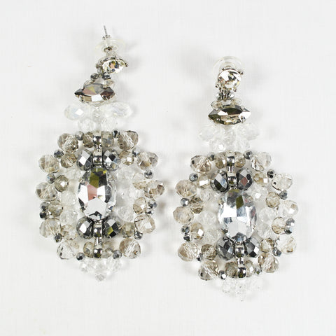 Statement Crystal Diamante Drop Earrings