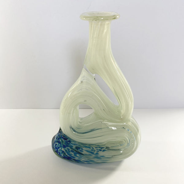 Mtarfa Glassblowers Organic Art Glass Vase
