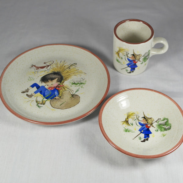 Kitsch Vintage Purbeck Pottery Childs Dinner Set