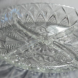 Oval Cut Crystal Nibbles Dish