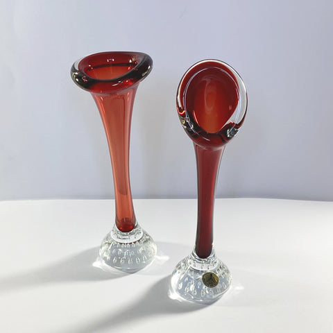 Two Red Jack in the Pulpit Bud Vases