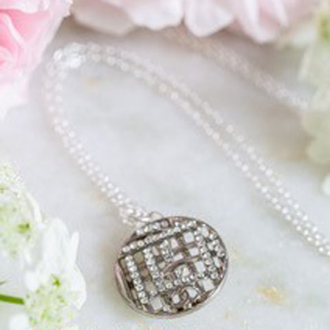 CC Diamante Vintage Button Necklace