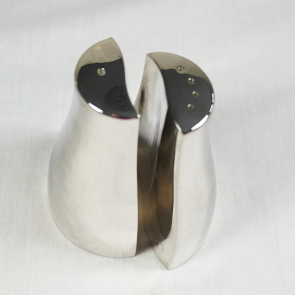 Yin Yang Silver Plate Salt and Pepper Cruets