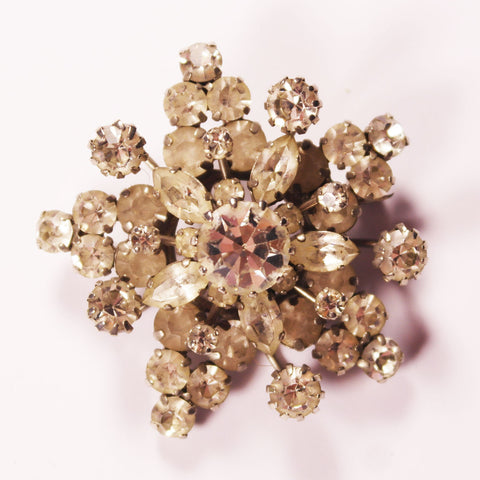 Art Deco Snowflake Brooch