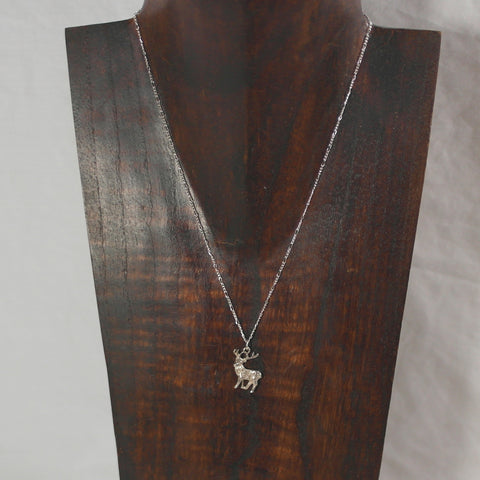 Sterling Silver Stag Necklace
