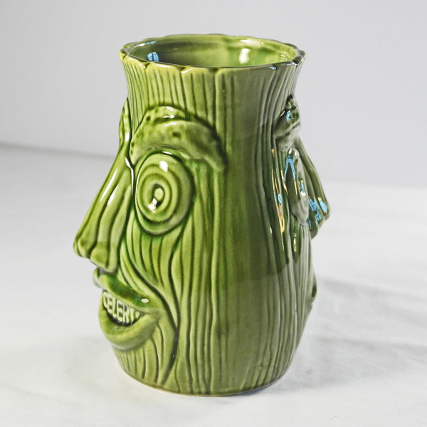 Two Faced Funny Ugly Face Celery Jar
