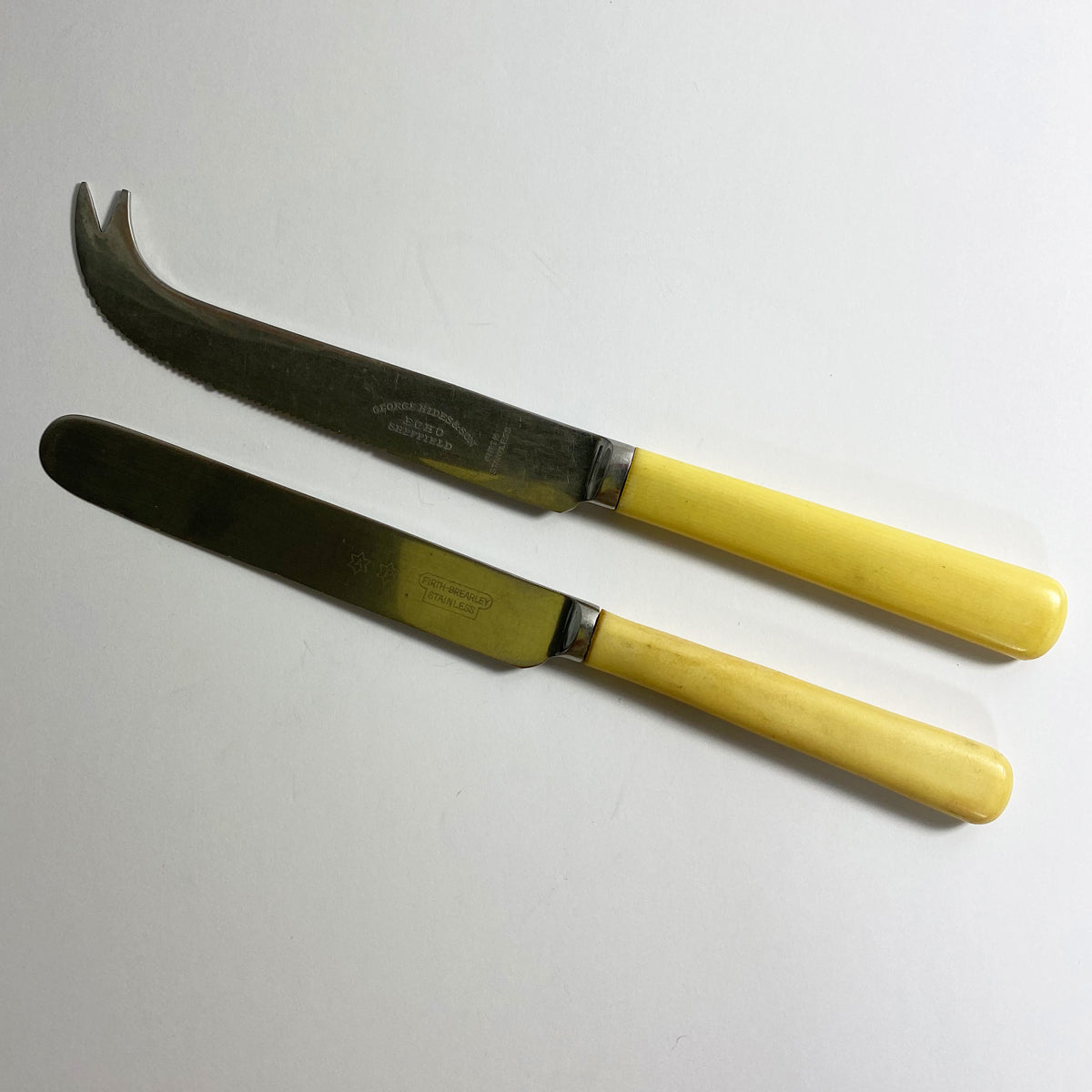 Celluloid Faux Bone Handle Butter and Cheese Knife