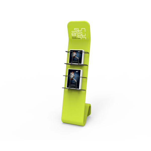 S-Shaped Brochure Stand with Graphic
