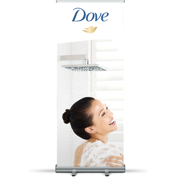 Classic Roll Up Banner Silver