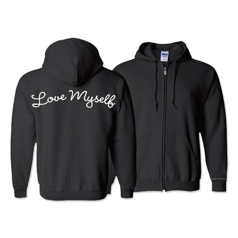 Love Myself Zip-Up Hoodie