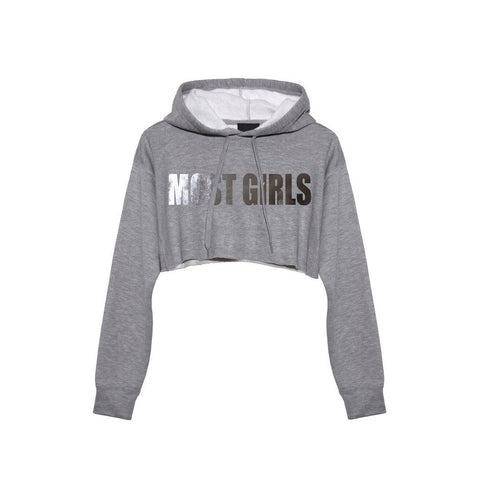 Most Girls Grey Hoodie