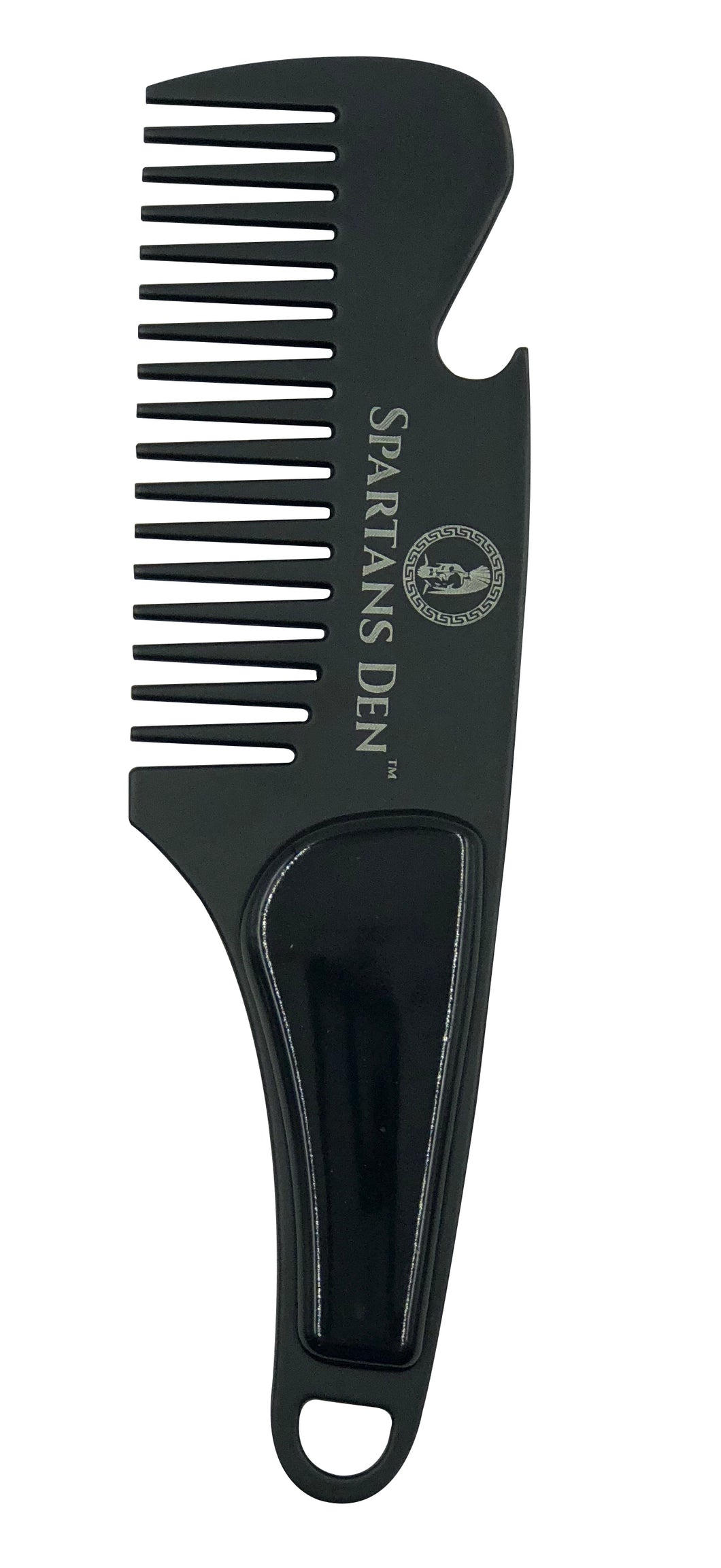 STAINLESS STEEL BEARD COMB - BLACK