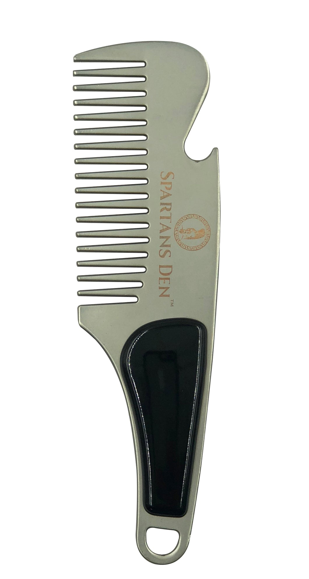 STAINLESS STEEL BEARD COMB - SILVER