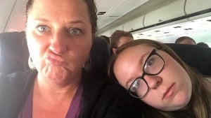 We were headed to Mobile, Al and found out our next flight was canceled. Booooo