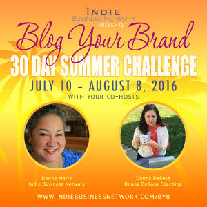 Blog Your Brand 30 Day Summer Challenge