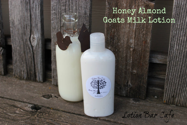 Goats Milk Liquid Lotion-Honey Almond
